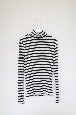 Edited Pullover Oberteil Streifen gestreift French Look schwarz weiß Gr. 36/38 Stretch