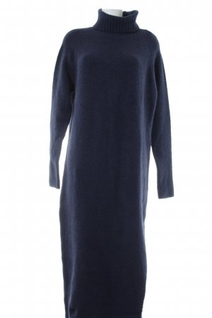 Edited Robe pull bleu imprimé allover style décontracté