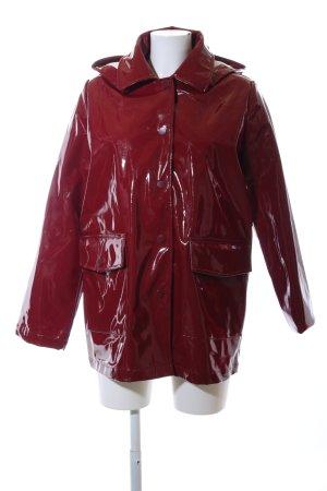 Edited Heavy Raincoat red casual look