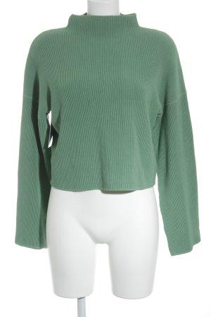 Edited Maglione dolcevita verde motivo a righe stile casual
