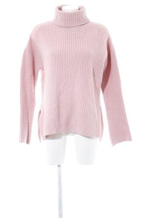 Edited Maglione dolcevita rosa stile casual