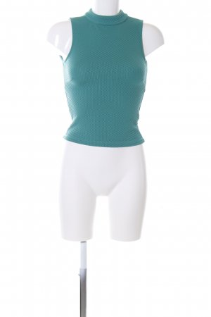 Edited Neckholder Top turquoise casual look