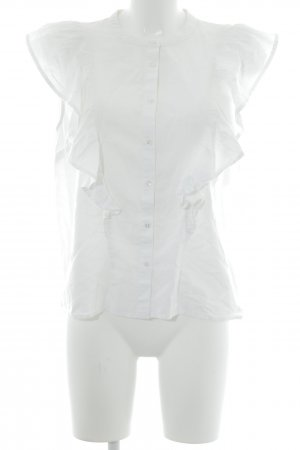 Edited Blusa con volantes blanco puro look casual