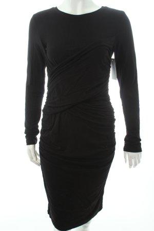 Edited Vestido de tubo negro Apariencia de ovillo