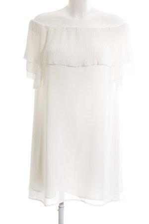 Edited schulterfreies Kleid weiß-wollweiß Elegant