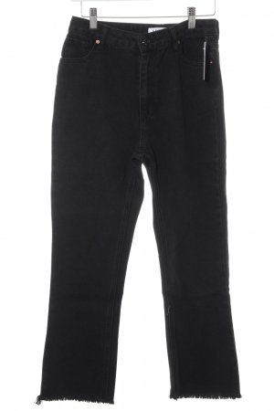 Edited Straight-Leg Jeans schwarz Street-Fashion-Look