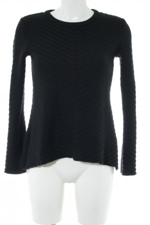 Edited Strickpullover schwarz Steppmuster Casual-Look