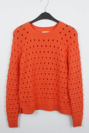 EDITED Strickpullover Gr. S orange Lochmuster (18/9/397)