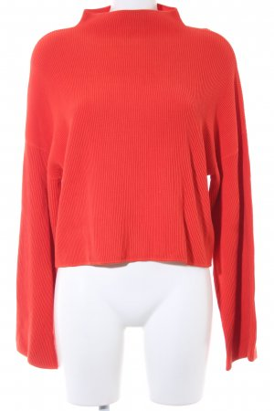 Edited Strickpullover rot Casual-Look