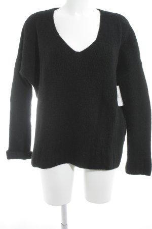 Edited Jersey de punto negro look casual