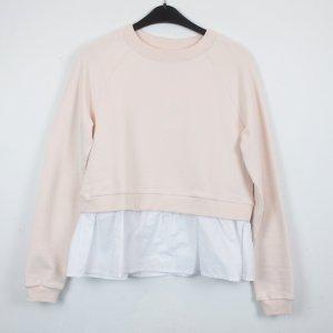 Edited Sweatshirt wit-lichtroze Katoen
