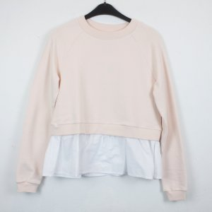 Edited Suéter blanco-rosa claro Algodón