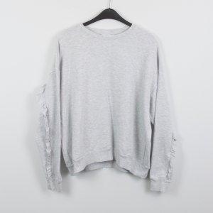 Edited Sweatshirt Gr. 40 grau oversized Rüschen (18/10/196)