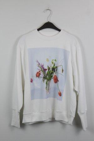 Edited Sweatshirt Gr. S weiß mit Blumen Print (18/10/223)