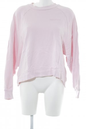 Edited Sweat Shirt light pink embroidered lettering casual look