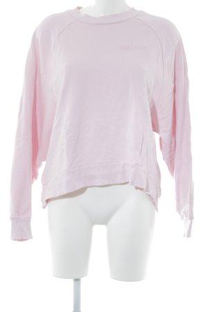 Edited Sweatshirt hellrosa Schriftzug gestickt Casual-Look