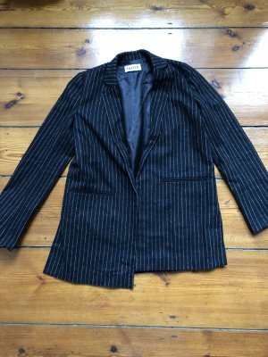 Edited Wool Blazer white-blue mixture fibre