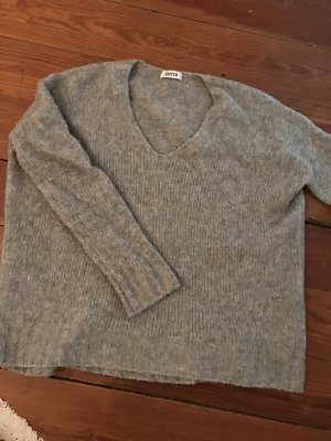 """EDITED the label """"Lale"""" Wollpullover Sweater Oversize V-Neck in Grau"""