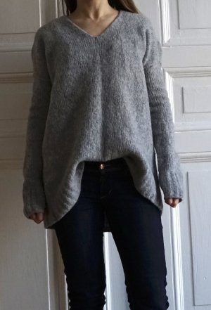 "EDITED the label ""Lale"" Wollpullover Sweater Oversize V-Neck in Grau Größe S"