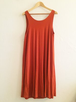 Edited Midi Dress orange viscose
