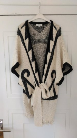 Edited The Label Poncho Kimono Cape Wolle In schwarz Camel Gr. S Aztec