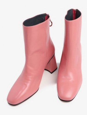 EDITED the label rosa boots Lederbooties in Pink 40 Stiefelette Naima