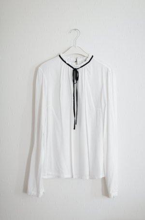 Edited The Label Vintage Inspired Bluse mit Schleife Gr. 36 schwarz weiß
