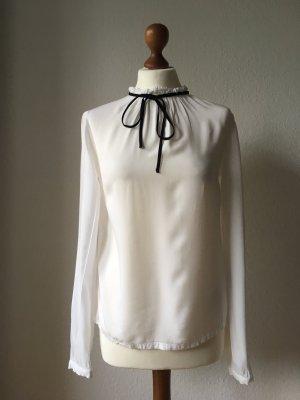 Edited Tie-neck Blouse white-black