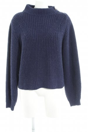 Edited Wollpullover dunkelblau Casual-Look