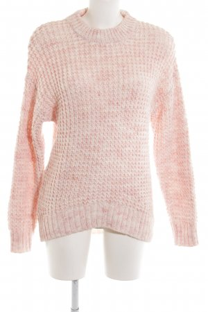 Edited Wollpullover rosé-weiß Casual-Look