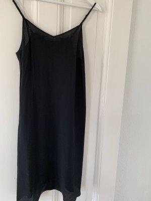 EDITED x Maja Wyh Slip Dress Seidentop Spaghetti-Kleid aus Seide 34 in Schwarz