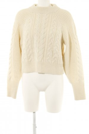 Edited Cable Sweater cream-natural white cable stitch casual look
