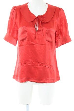 Edith & Ella Glanzende blouse rood elegant
