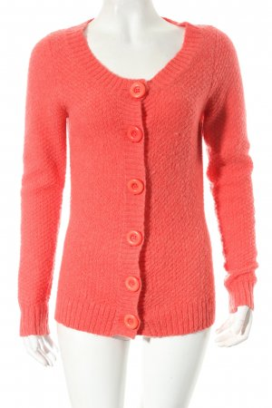 Edith & Ella Cardigan tricotés rouge clair style simple