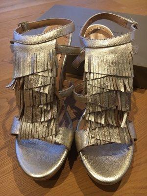Bruno Premi Platform High-Heeled Sandal gold-colored