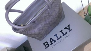 Bally Borsa con manico marrone-nero-bronzo Pelle