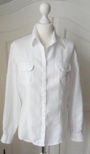 edle Basefield Leinen Bluse Gr. L (40) weiß nur 2 x getragen