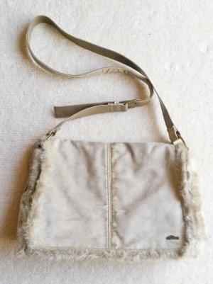 edle beige Tasche von s. Oliver, wie neu, tolles Kunst-Wildleder