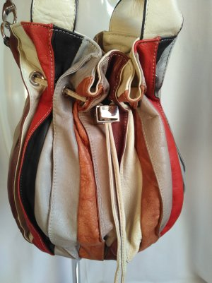 Made in Italy Sac seau multicolore cuir