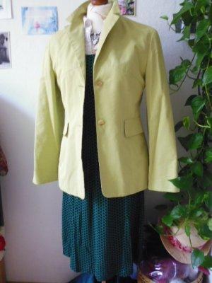 Laurèl Boyfriend Blazer lime yellow-pale green silk