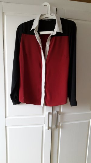 Edle Bluse dreifarbig in sattem rot von Dorothy Perkins 38