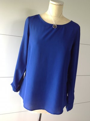 Edle Bluse in Royal-Blau