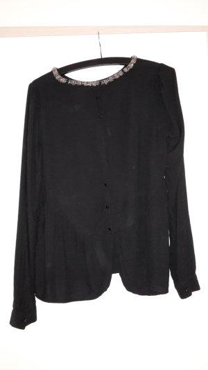 Edle Bluse in schwarz silber