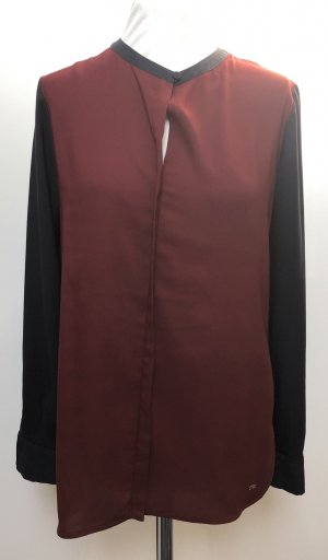 Tommy Hilfiger Transparante blouse bordeaux-donkerblauw Polyester