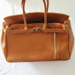 Carry Bag gold-colored-cognac-coloured