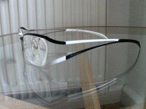 edle Brille schwarz /weiß