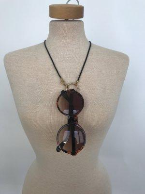 Edle Brillenkette von La Loop Gold/Strass
