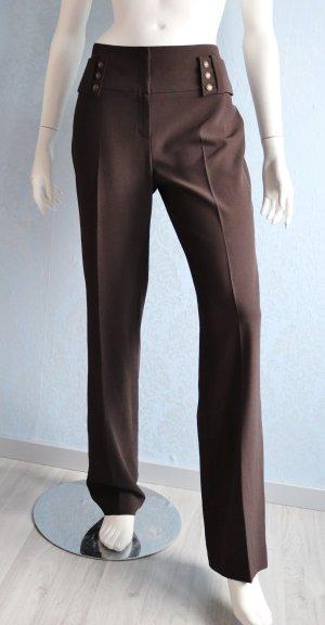 1.2.3 Paris Stoffen broek zwart bruin-donkerbruin Gemengd weefsel