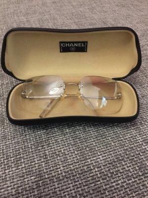 Edle Chanel Sonnenbrille Silber verspiegelt
