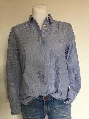 Edle CLOSED Bluse Baumwolle Blau Weiß gestreift Gr.S